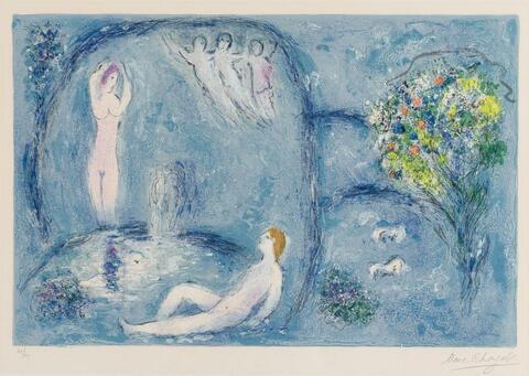 Marc Chagall - Die Felsengrotte der Nymphen