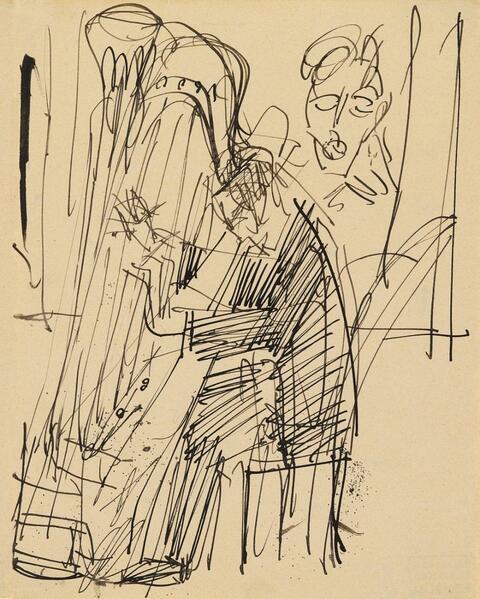 Ernst Ludwig Kirchner - Der Harfenist I