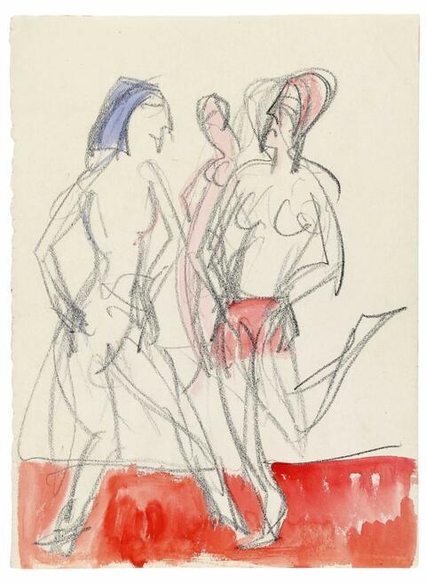 Ernst Ludwig Kirchner - Tanzszene