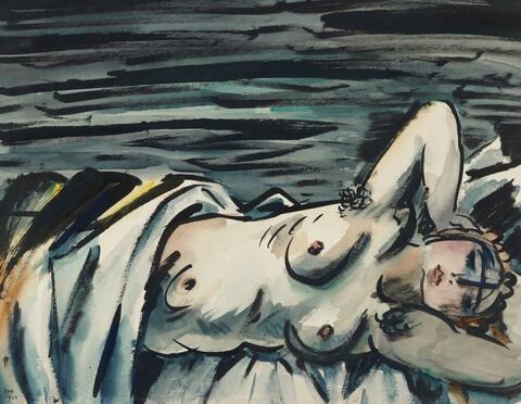 Frans Masereel - Nu couché (I)