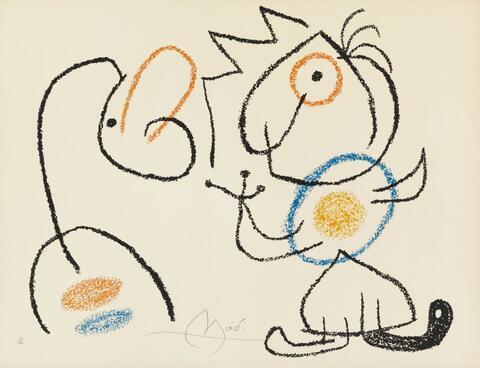 Joan Miró - Aus: Ubu auf den Balearen