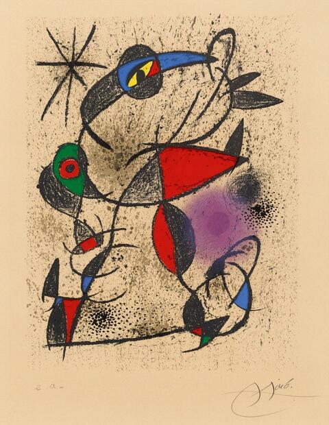 Joan Miró - Jaillie du calcaire