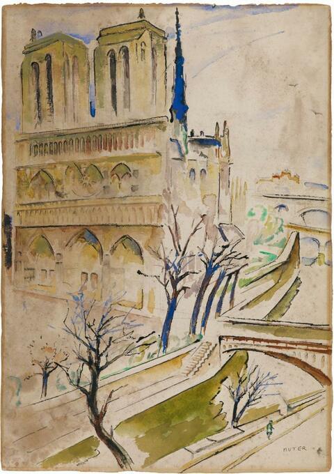 Mela Muter (Maria Melania Mutermilch) - Notre-Dame de Paris