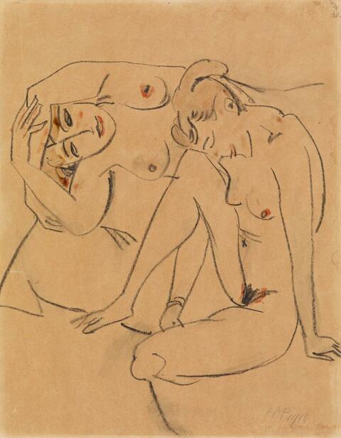 Hermann Max Pechstein - Zwei weibliche Akte