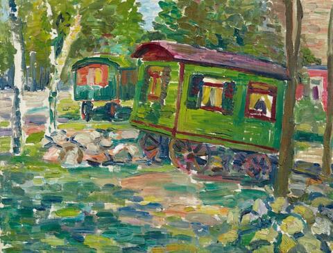 Georg Tappert - Grüne Wagen