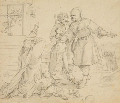 Alfred Rethel, zugeschrieben - Der barmherzige Samariter