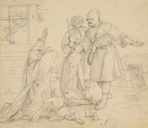 Alfred Rethel, attributed to - The Good Samaritan