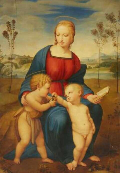 Raffaelo Sanzio, called Raphael, copy after - Madonna del Cardellino (The Madonna with the Goldfinch)