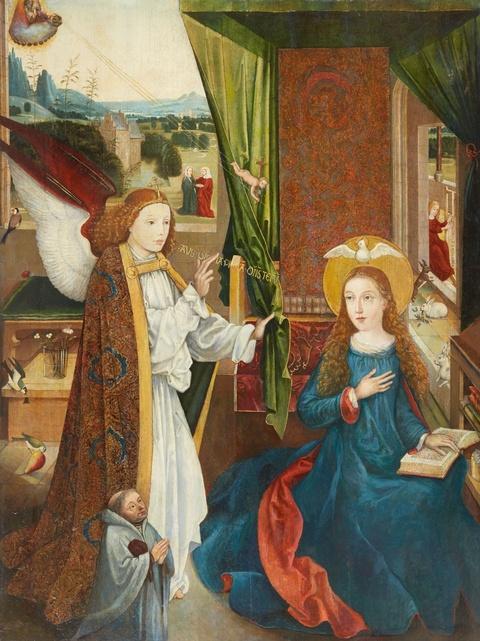 Wohl Süddeutscher Meister um 1500 - Verkündigung an Maria