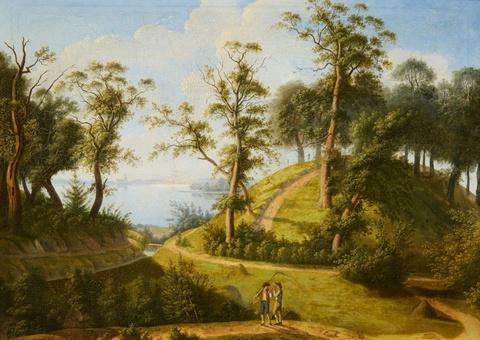 Deutscher Künstler der 1. Hälfte des 19. Jahrhunderts - Ansicht von Dreibergen am Zwischenahner Meer