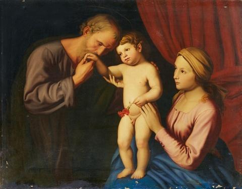 Deutscher Künstler des 19. Jahrhunderts - Heilige Familie