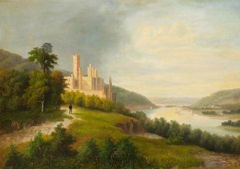 Deutscher Künstler der 2. Hälfte des 19. Jahrhunderts - Schloss Stolzenfels am Rhein