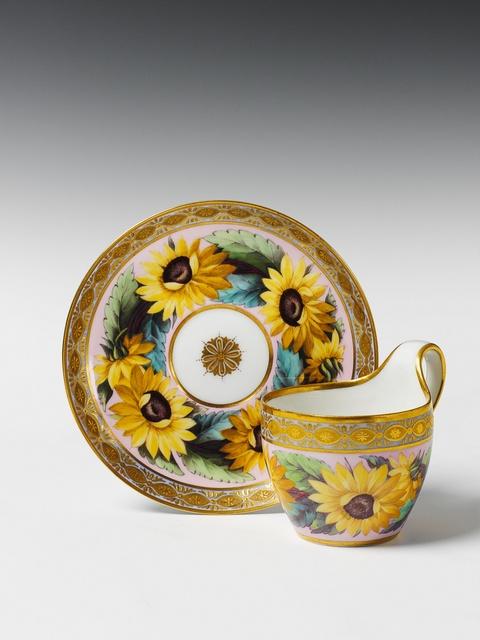 Campanertasse mit Sonnenblumen -