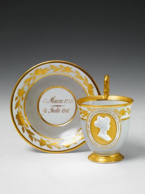 A Berlin KPM porcelain cup commemorating Princess Luise. -