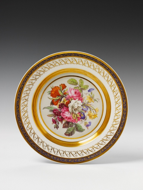 Teller mit Blumenbouquet -