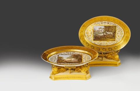 Paar Tafelaufsätze für Prinzessin Charlotte und Großfürst Nikolaus I. -