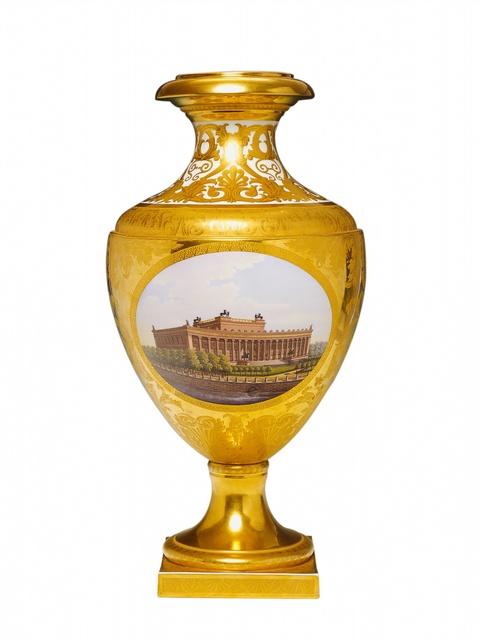 Münchner Vase mit Berliner Ansichten -