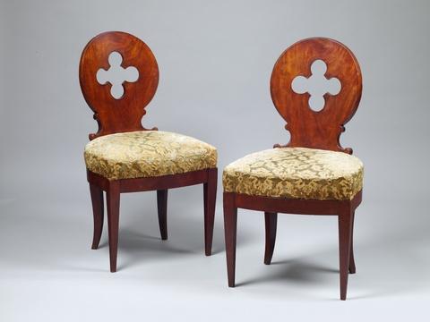 Paar neogotische Stühle -