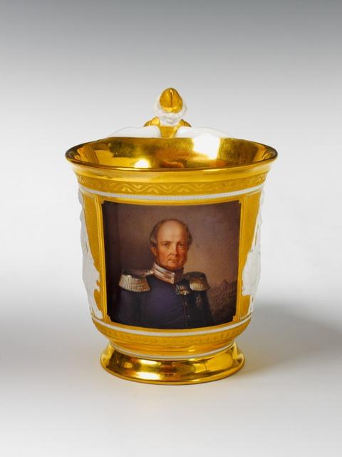Tasse mit Bildnis Friedrich Wilhelm IV. -