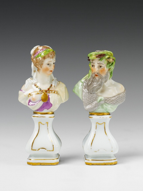 Two Berlin KPM porcelain busts. -