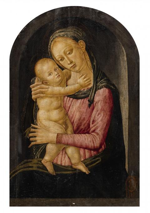 Jacopo del Sellaio, Werkstatt - Madonna mit Kind