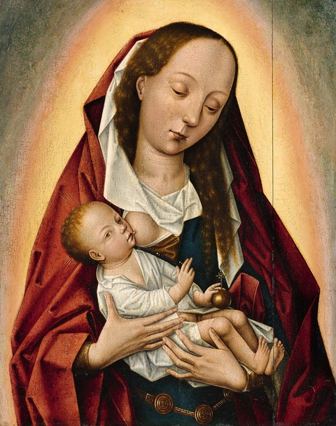 Rogier van der Weyden, Umkreis - Maria lactans