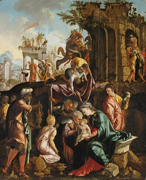 Jan van Scorel, studio of - Adoration of the Magi