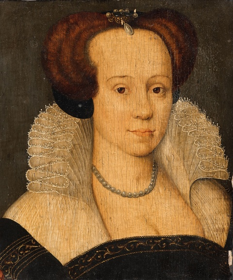 French School 16th century - Portrait of a Lady