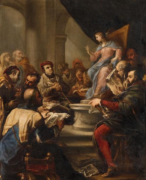 Luca Giordano - Christ Among the Doctors