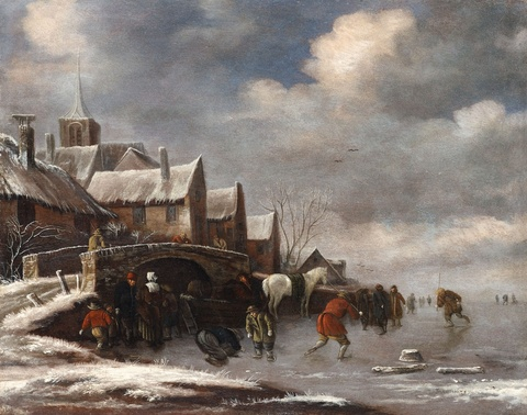 Thomas Heeremans - Skaters on a Frozen Canal