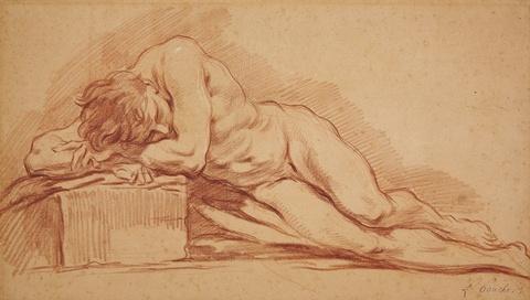 François Boucher, zugeschrieben - Männlicher Akt