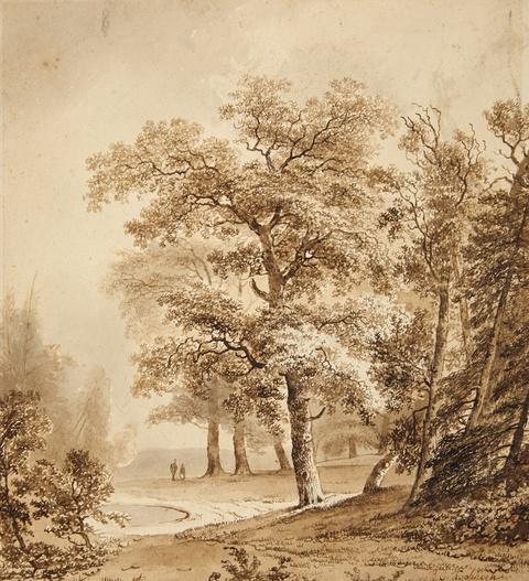 Barend Cornelis Koekkoek - Parklandschaft bei Apeldoorn