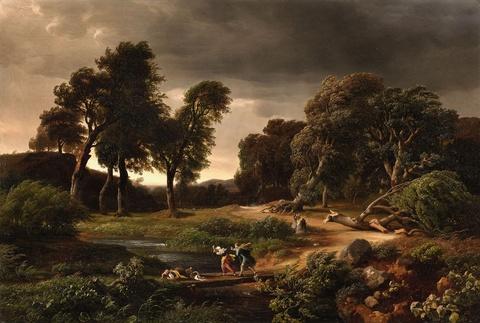 Johann Wilhelm Schirmer - Stormy Landscape