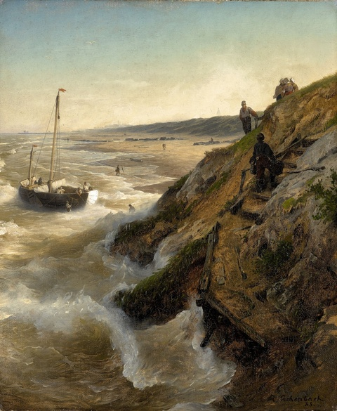 Andreas Achenbach - A Dutch Coastal Landscape