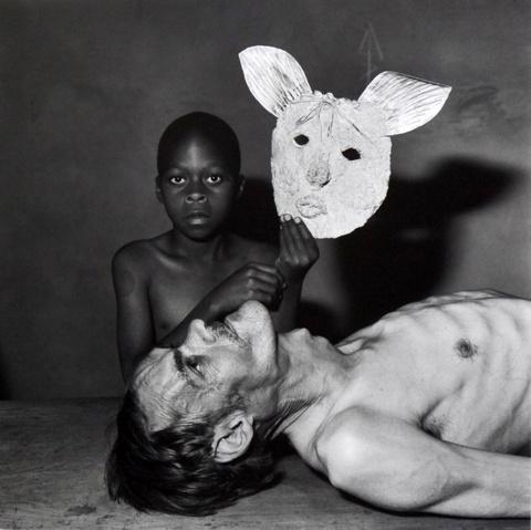Roger Ballen - Tommy, Samson and a mask
