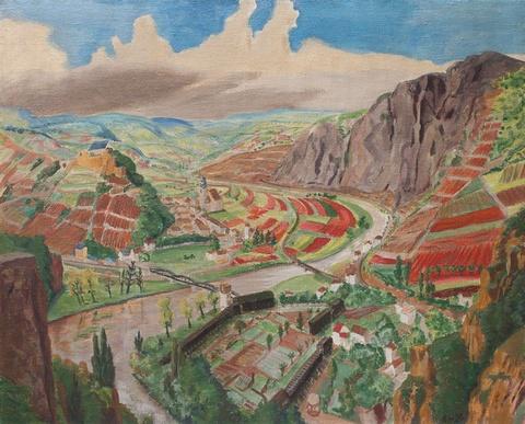 Erich Heckel - Landschaft im Nahetal