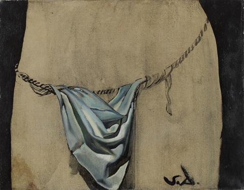 """Salvador Dali Y Domenech - Étude pour """"le pagne"""" ou """"Linge de pudeur du Christ"""" du tableau """"Corpus Hypercubus"""""""