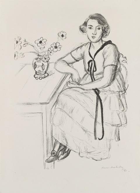 Henri Matisse - La robe jaune au ruban noir