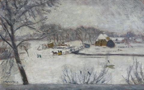 Otto Modersohn - Winterlandschaft (Fischerhude)
