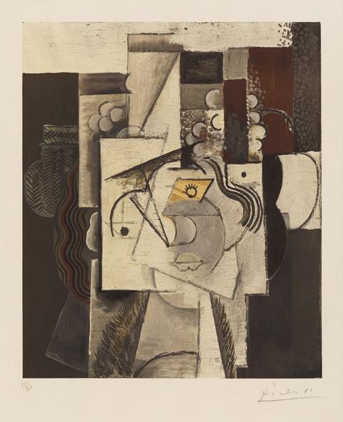 Nach Pablo Picasso - Le Chapeau aux raisins