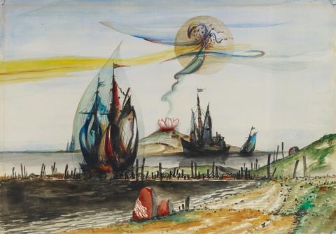 Franz Radziwill - Die Spur am Himmel (Entfaltung)