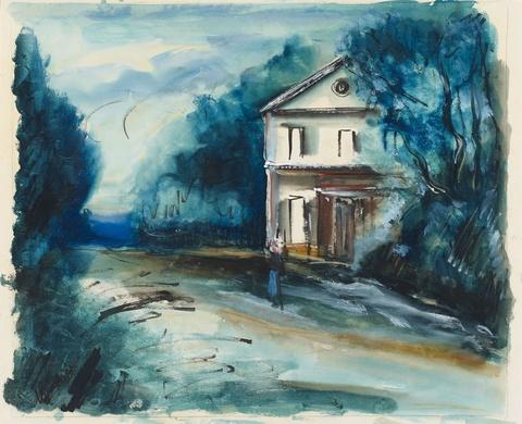 Maurice de Vlaminck - Maison au bord de la route