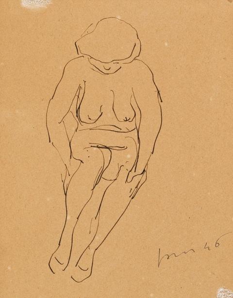 Lucio Fontana - Ohne Titel (Nudo)