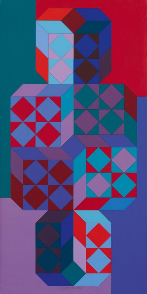 Victor Vasarely - Tridim-May
