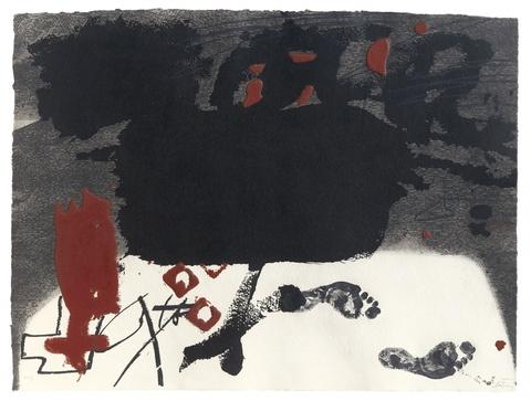 Antoni Tàpies - Roig i negre 4