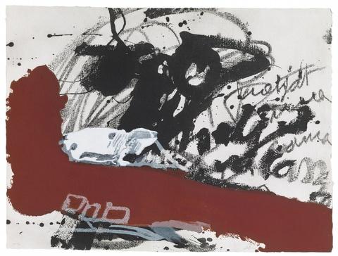 Antoni Tàpies - Roig i negre 5