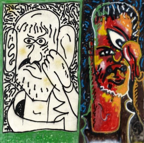 Jirí Georg Dokoupil - Untitled (Gerd doppelt)
