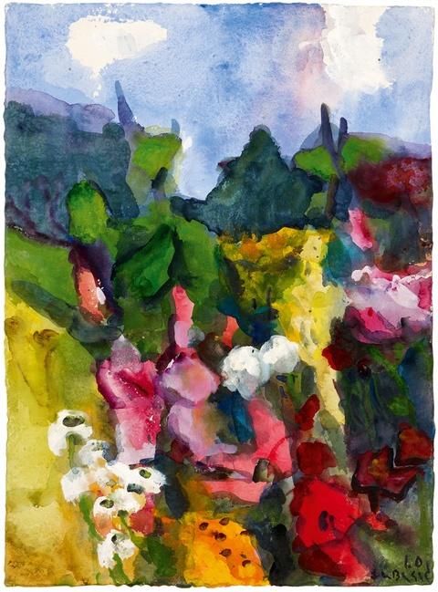 Klaus Fußmann - Untitled (Sommer im Garten Gelting)