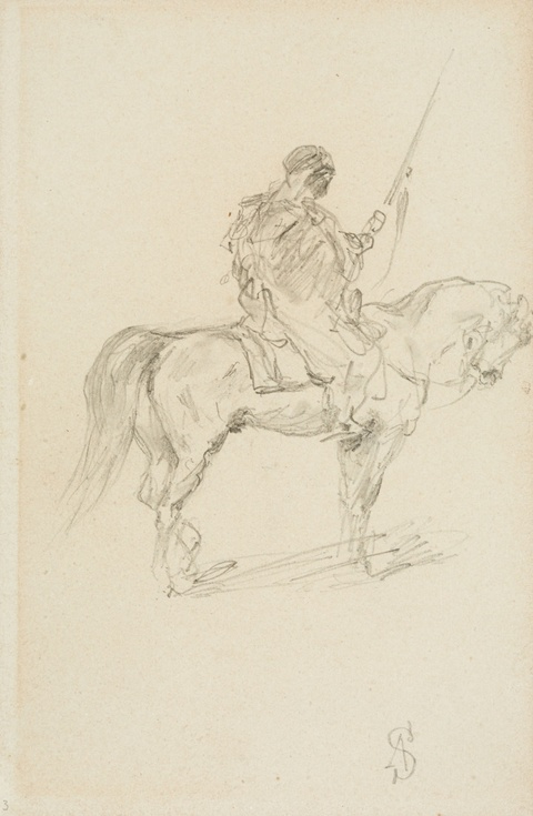 Adolf Schreyer - Three Studies of Riders