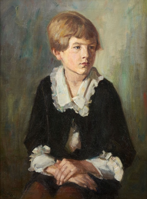 Emil Rudolf Weiss - Portrait of a Seated Child
